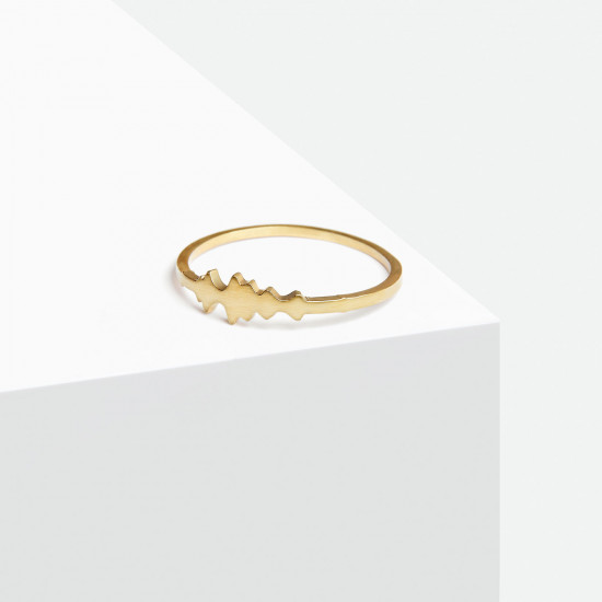Voice Silhouette Ring 18K Gold